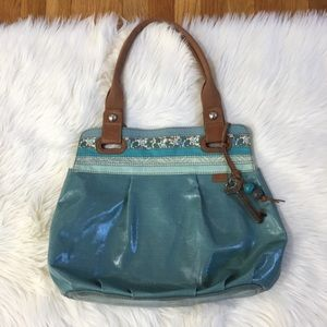 Fossil Key-Per Blue Handbag
